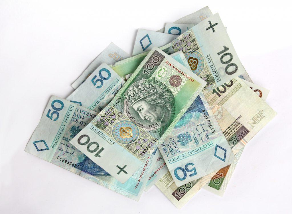 Polskie banknoty o różnych nominałach